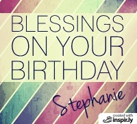 Blessings on your birthday