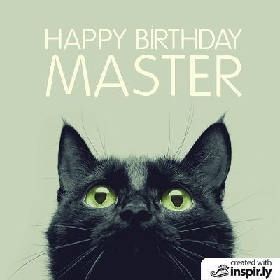 Birthday happy birthday master