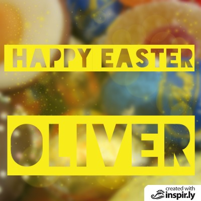 wishes happy easter oliver
