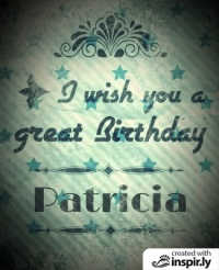 I wish you a great birthday vintage